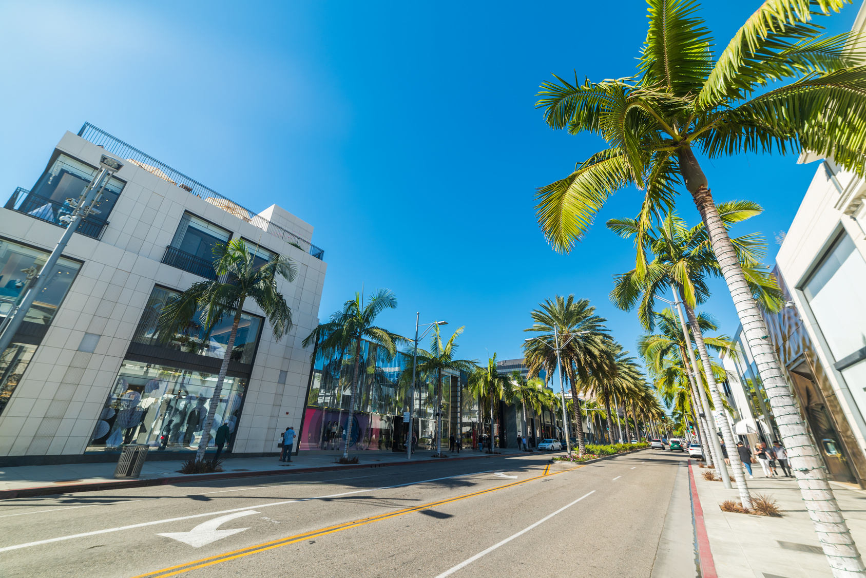 Clear sky over Rodeo Drive. California, USA