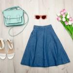 やっぱりかわいい!フレアデニムスカート!冬~春コーデ